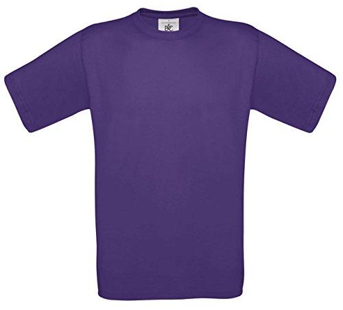 B&CHerren T-Shirt Violett Violett
