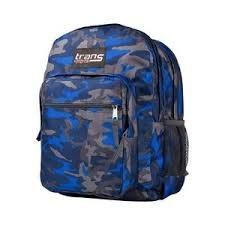 - Trans by Jansport TM60 Supermax Backpack - FORGE GREY / BLUE STREAK STATUS CAMO (9TS)
