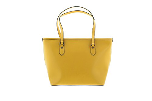 Borsa Shopping media in pelle Y Not - 796-B Giallo Giallo