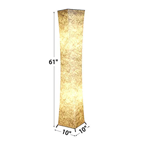Floor Lamp, CHIPHY Tall Lamps, Color Changing and Dimmable Smart RGB LED Bulbs, Remote Control and White Fabric Shade, Modern Standing Light for Living Room, Bedroom and Office(10''10''61 inches) by chiphy (Image #2)
