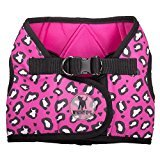 The Worthy Dog Dog Harness - Pink Cheetah Print Sidekick Dog Harness offered by Three Boys of Scottsdale Pet Boutique (medium) Hot Pink Sidekick