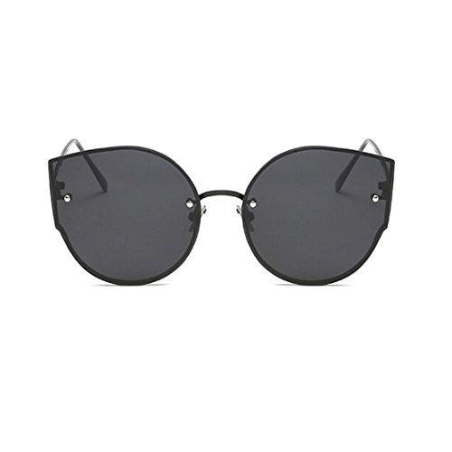 Negro Ojos Gafas Clásico Retro Súper Gris sol gato Xinvision de Moda Marco Mujer UV400 ligero Protection de Metal Gafas qwxfUH