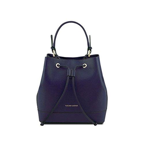 Borsa Donna a Secchiello   Tuscany Leather Minerva   TL141436A17A-Blu Scuro