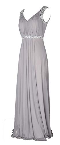 - Conail Coco Women's Tulle Beading A-Line Bridesmaid Prom Dresses Long Cocktail Evening Gowns (XLarge,98Grey)
