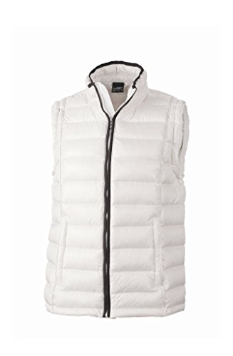 Sportivo Gilet Men's Rialzato white Con Vest Down Quilted Off black Collo rdIqrOxwa