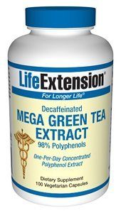 Life Extension - Mega Green Tea Extract 98% Polyphenols 100 Vegie Caps Persönlichen Gesundheitswesen Gesundheit