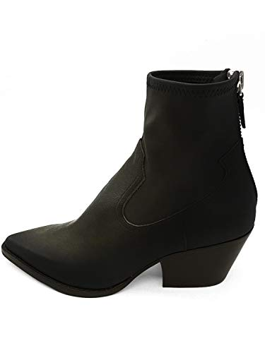 Dolce Vita Women's Shanta Ankle Boot, Black Leather, 7 M US (Vita Dolce Boots 7)