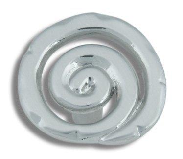 Brushed Nickel Scroll Knob (ATH140BRN) ()