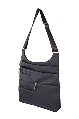 Highway Handbag S09-21 (Midnight Grey & Green)