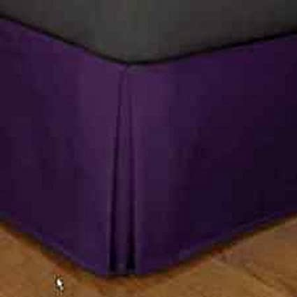Black}. Piece Bed Skirt Solid Extra Drop Length 100/% Egyptian Cotton 400 Thread Count 12 Inches All Size And Color {Full XL 1