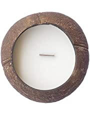 Natural Coconut Candle in a Real Coconut! Mixture of Natural Coconut and Soy Wax - Burns Over 40 Hours!