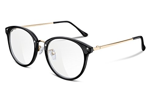 (FEISEDY Women Vintage Glasses Frames Round Non Prescription Eyewear Clear Lens B2260)
