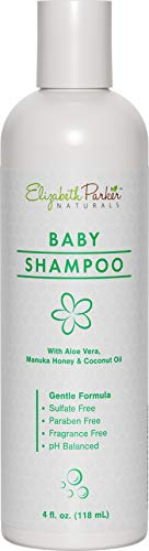 Cradle Cap Baby Shampoo - Hypoallergenic Shampoo With Gentle Formula for Dry & Itchy Scalp Relief - Natural & Organic with Manuka Honey and Coconut Oil - Soothe Eczema Psoriasis & Cradle Cap (4 oz)