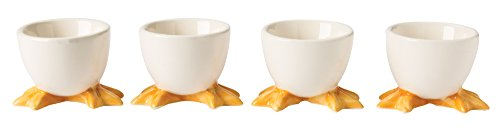 Egg Cup Yellow (The Paragon Egg Cups - Set of 4 Hardboiled Egg Holders, Perfect for Easter Eggs)