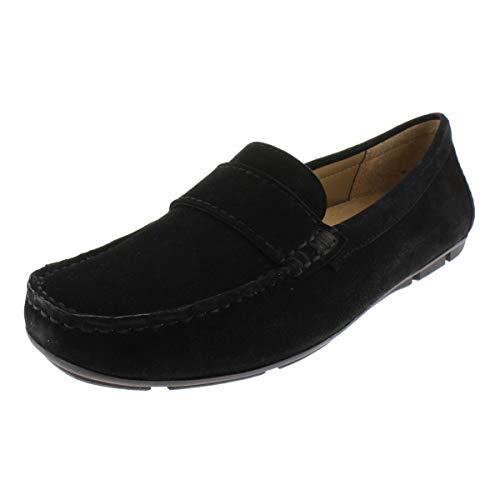 Naturalizer Womens Brynn Suede Dress Loafers Black 6.5 Medium (B,M)