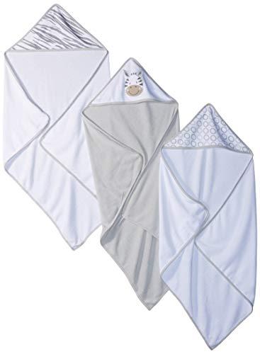 (Spasilk 3 Piece Soft Terry Hooded Towel Set, Grey Zebra)