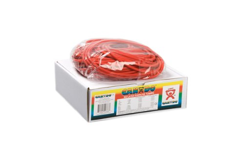 Latex Free Tubing - DSS CanDo Latex Free Exercise Tubing Rolls (100 foot dispenser roll, Red)