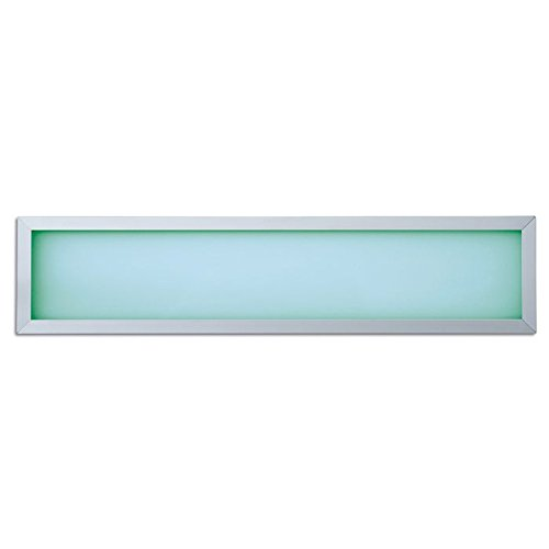 Lampenlux Ultraslim LED RGB Panelo Einbaupanel Haiko Panel Einbauleuchte Silber 18W 60x15cm Aluminium [Energieklasse A+]