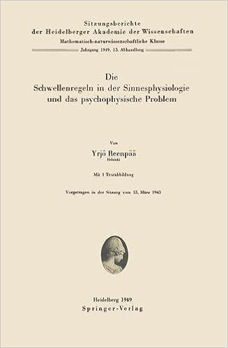 Very Die Schwellenregeln in der Sinnesphysiologie und das - download  HL79