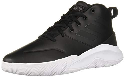 adidas Men's OwnTheGame Wide Basketball Shoe, Black/Night Metallic, 11 W US