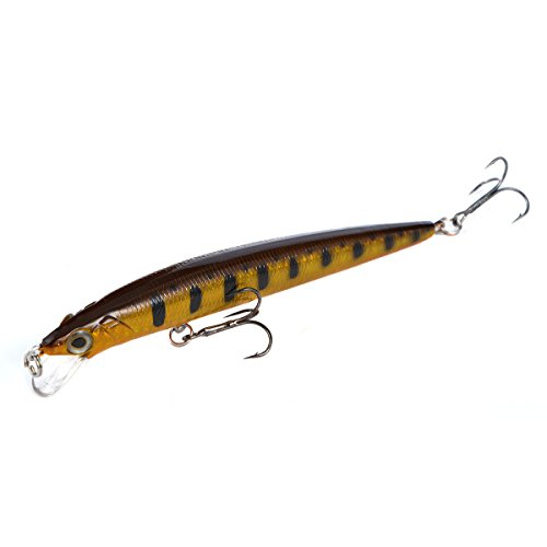 Cabo Surfin' Minnow Fishing Bait with Stripes, Brown/Black ()