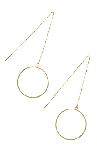CONTEMPO COUTURE MINIMAL HOOP DROP EARRINGS (Gold)