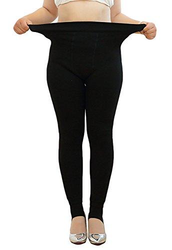 Century Star Womens Plus Size Winter Thick Warm Leggings Stretch Pants Tights Black M(US Size (Halloween 3 Blu Ray Australia)