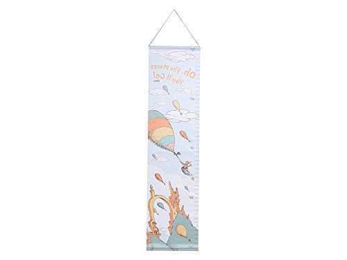 Trеnd Lаb Home Decor Dr. Seuss Oh The Places You'll Go Canvas Growth Chart, Orange