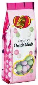 Jelly Belly Chocolate Dutch Mints 6 oz. Bags - 6 / Case