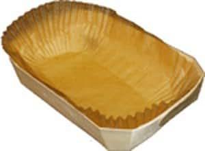 """Panibois Bakeable Wooden Duc Basket 6 7/8"""" x 4"""" x 2 3/4"""", case of 100"""