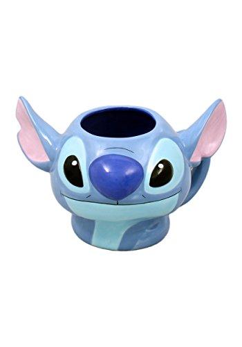Silver Buffalo LI9995 Disney Lilo and Stitch Sculpted 3D Ceramic Mug, 20-Ounces