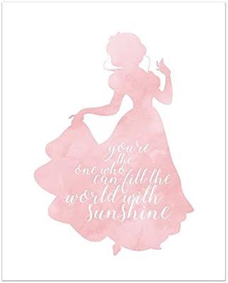 Amazon.com: Snow White Disney Princess Inspirational Quote ...