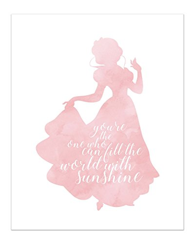 Snow White Disney Princess Inspirational Quote - Photo Print (8x10) Poster - Snow White and The Seven Dwarfs