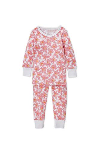 aden + anais Pajama Set, 2 Piece, 100% Cotton Sleepwear, Flowers, Size 18M