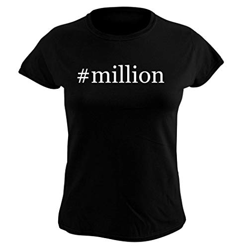 Harding Industries #Million - Women's Hashtag Graphic T-Shirt, Black, Small