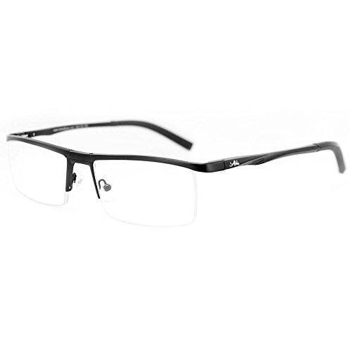 Alumni RX03 Optical-Quality Reading Glasses with RX-Able Aluminum Frames for Men (Black +2.00) (Discount Designer Glasses)
