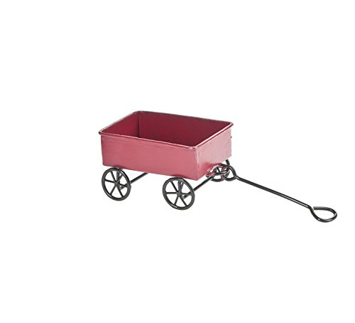 "Ganz 2.5"" Mini Vintage Style Metal Wagon Figurine"
