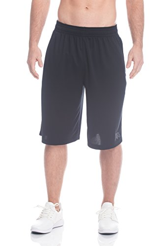 fan products of Above The Rim Men's Mesh Basketball Shorts - Workout & Gym Shorts For Men - Ballers - Black, Large
