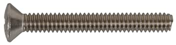 1//4-Inch x 1-1//2-Inch The Hillman Group 825994 Stainless Steel Oval Head Phillips Machine Screw 100-Pack