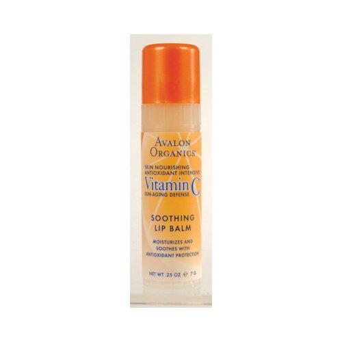 Avalon Organics Vitamin C Soothing Lip Balm, 0.25 Ounce - 16 per case.
