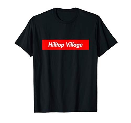 Hilltop Village Box Logo City Souvenir Funny T-Shirt