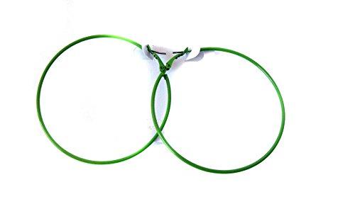 Green Hoop Earrings Thin Hoop Earrings 2.75 Inch Hoop Earrings