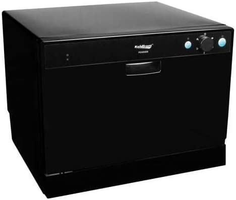 Koldfront 6 Place Setting Portable Countertop Dishwasher - Black