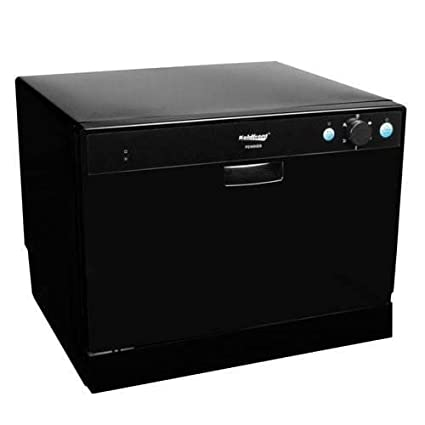 Koldfront PDW60EB 6 Place Setting Portable Countertop Dishwasher
