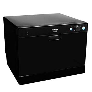 Koldfront PDW60EB 6 Place Setting Portable Countertop Dishwasher   Black