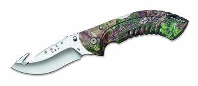 Buck Knives 398 Omni Hunter 12pt Guthook Folding Knife with Heavy-Duty Nylon Sheath