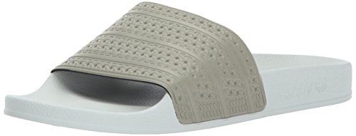 adidas Men's Adilette,Tech Beige/Tech Beige/Linen Green,13 Medium US ()