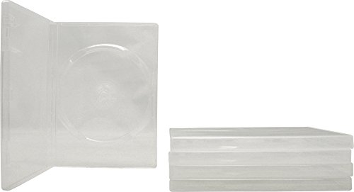 5 Empty Standard Clear Replacement Boxes / Cases for Single DVD Movies - Boxes Single Dvd