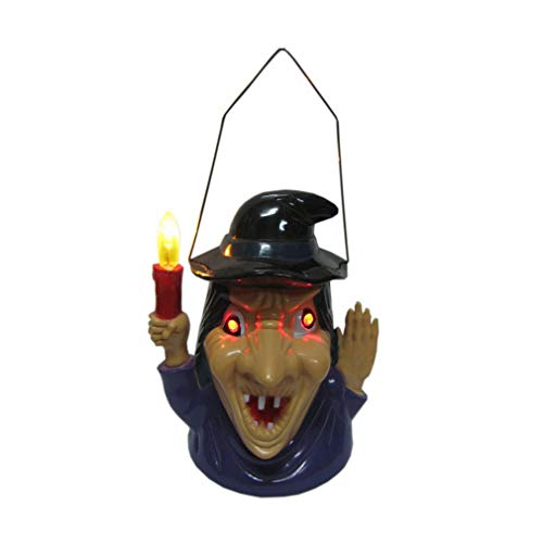 Halloween Supplies Luminous/Horrible Sound Pumpkin Light Props Bar Decoration Portable Pumpkin Lamp Devil Toys (Color : A)