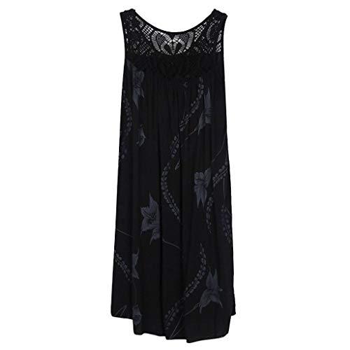 - Adeliber Dress Women's Summer Wrap V Neck Bohemian Floral Print Ruffle Swing A Line Beach Mini Dress Black